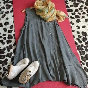 NWOT Melody linen tent dress